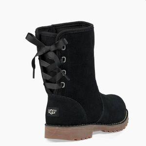 UGG Corene Black Leather Boot